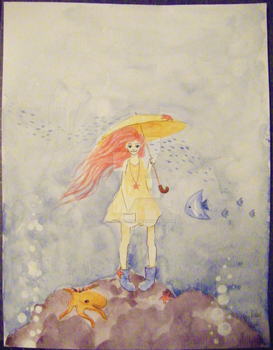 the little girl with starfish