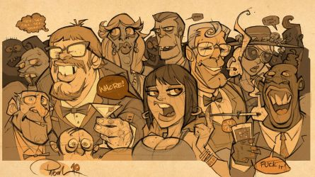 Cocktail Party by blitzcadet