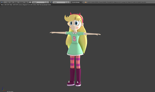 [WIP] Star Butterfly by Sindroom