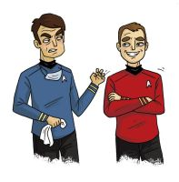 Bones and Scotty by TRAVALE