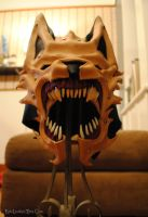 WIP Leather and Bone Wolf Helm: Snarl by Epic-Leather