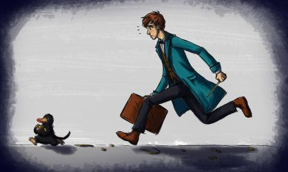 Newt and the Niffler by StellaPollet