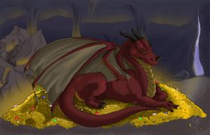 Dragon's Hoard by CraftyTibbles