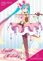 [Fan Art] MIKU39 POSTER: Sweet Melody by Hikarisoul2