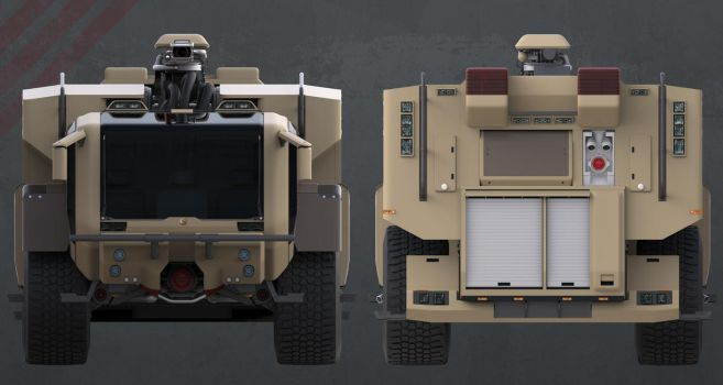 Firefight Truck: Font and Back by sasa454