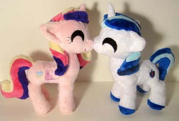 Itty Bitty Shining Armor and Cadence by FollyLolly