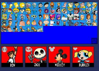 Cartoon Fighters updated char roster by SuperMaster10