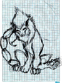 Sketch: Manticore by DAZUMA