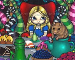 Alice and the Dormouse by jasminetoad