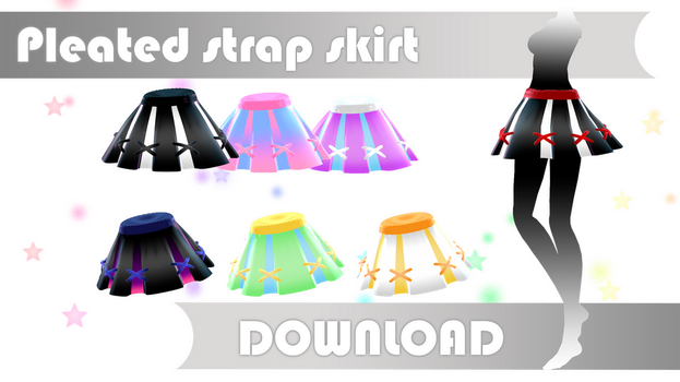 Pleated strap skirt DOWNLOAD dl for MMD by HoshichoM