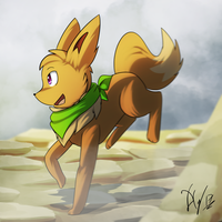 Aura the Eevee BD by Xael-The-Artist