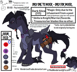 MLP O.C - Sale (FB) / Undecided (Read) by WonderlandTrades