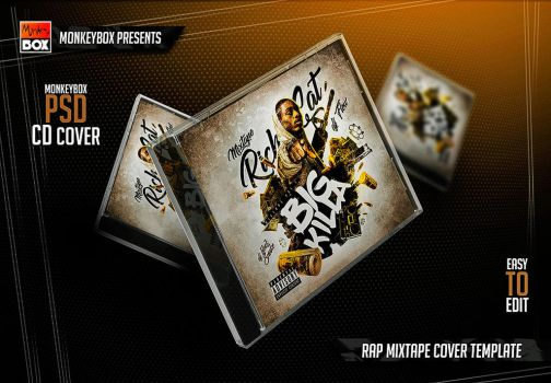 Rap Mixtape Cover Template by AndyDreamm