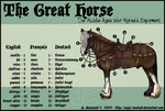 The Great Horse Diagram by ValkAngie