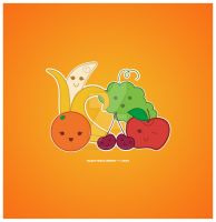 Kawaii Fruit Group by KawaiiUniverseStudio