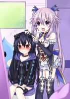 Adult Neptune x Noire Clothes swap by Hach1suka