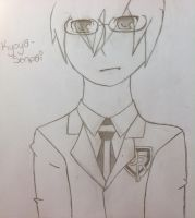 Kyoya senpai by Unknowndemon626