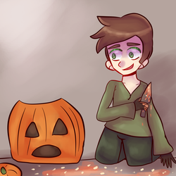 pumpkin carving by Kittipaws
