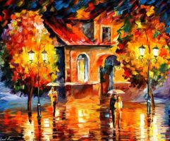 Rain Impression by Leonid Afremov by Leonidafremov