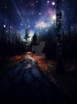 Path after it rained under the stars by kandi