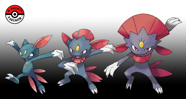 215 - 461 Sneasel Line (Redo) by InProgressPokemon