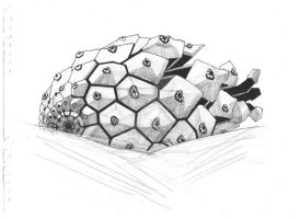 My drawing, fir-cone :) by GalinaChanturiya