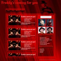 Freddy Krugar web template by JillySB
