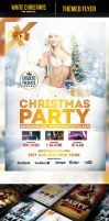 White Christmas Party Flyer Template by odindesign