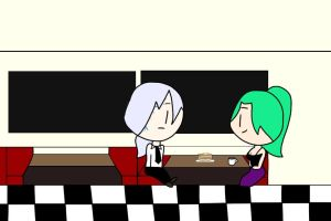 Spencer and Terra at the Diner by TennisHero