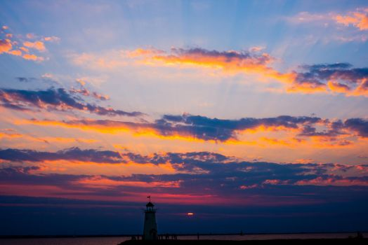 Light house at the lake by MinhVisual