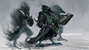 Kenku illusionist (commission) by ThemeFinland