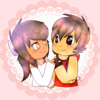 Aphmau and Aaron by Djpgirl