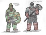 Heavily Armored Dwarves by DWestmoore