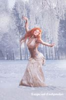 Girl and snowy atmosphere by mylifesite
