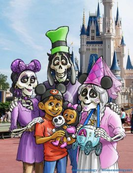 [COCO SPOILERS] Rivera Family Disney Vacation by nonsensology