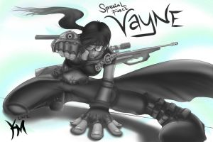 SF Vayne skin BandW by Kaiser-jiM