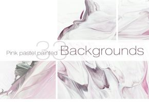 33 Pastel Painted Backgrounds by GraphicAssets