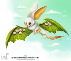 Daily Painting 1712# Honduran White Griffon by Cryptid-Creations