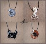 Summer animal necklaces by AlviaAlcedo