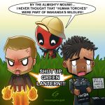 Deadpool starts the fire by Dreamgate-Gad
