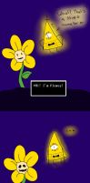 Flowey and Bill Cipher- Comic by Rythianfan1120