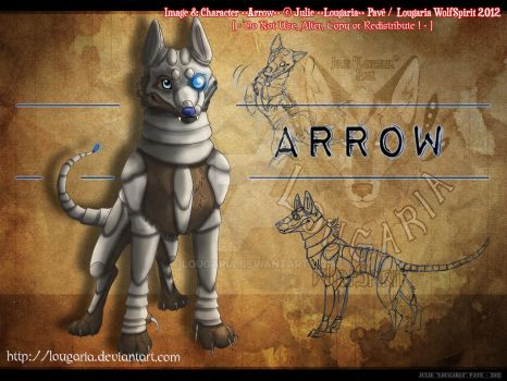 Arrow, the cyborg dog - concept by Lougaria