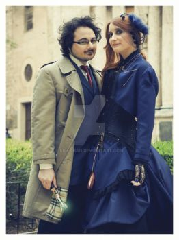 Doctor Who Engagement Photoshoot 1 by Ligechan