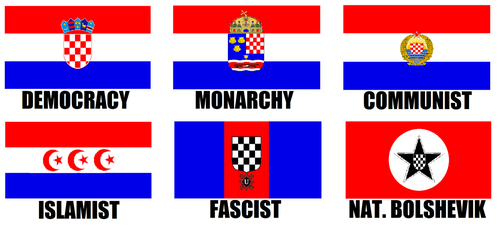 Alternate Flags of Croatia by wolfmoon25