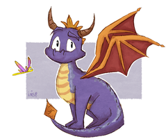 Spyro and Sparx by inesp22