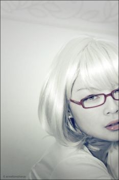 Blonde Nerdy Glasses. by anney