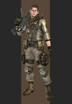 XPS - RE6 - Piers Nivans China Outfit. by henryque999