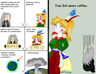 Kefka is better than Sephiroth by CrowMaiden