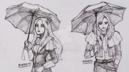 Stay dry royal couples by BukkaVYi