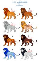 -OPEN(2/8)- Lion Adoptables by R-FakonWolf